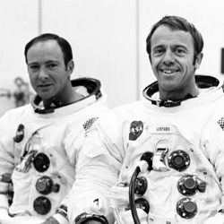 Apollo 14 Crew, Alan Shepard and Edgar Mitchell